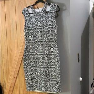 Cache Sz. 12 black and white printed dress